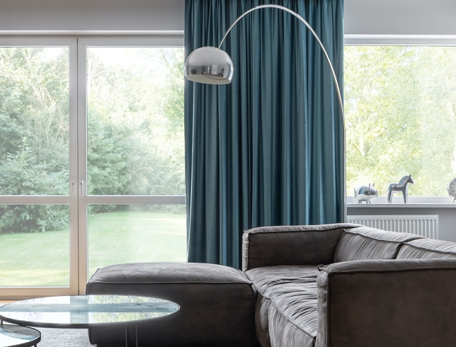 Curtains in a modern home